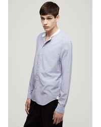 Rag & Bone - Blue Grandad Shirt for Men - Lyst