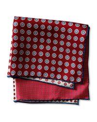 Banana Republic | Red Multi-side Silk Pocket Square for Men | Lyst