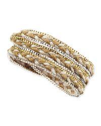 Nakamol - Metallic Braided Rope & Box Chain Wrap Bracelet - Lyst