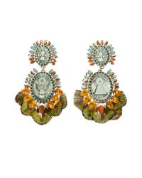Bijoux De Famille - Green Apache Earrings - Lyst