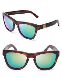Westward Leaning - Green Louisiana Purchase Mirrored Wayfarer Sunglasses - Lyst