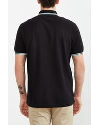 Stussy - Black Classic Twin Stripe Polo Shirt for Men - Lyst