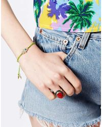 Rachel Roy - Green Lime Hamsa Hand Friendship Bracelet - Lyst