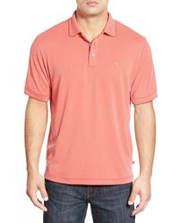 Tommy Bahama - Red 'new Pebble Shore' Short Sleeve Polo for Men - Lyst