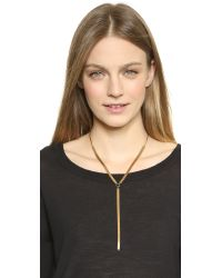 Serefina - Metallic Chain Lariat Necklace - Gold - Lyst