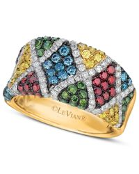 Le Vian | Multicolor Mixberry™ Diamond Patterned Ring (1-9/10 Ct. T.w.) In 14k Honey Gold™ | Lyst