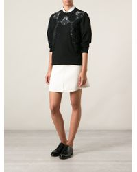Dolce & Gabbana - Black Lace Detail Sweater - Lyst