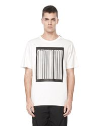 Alexander Wang - White Barcode Logo Welded Tee for Men - Lyst