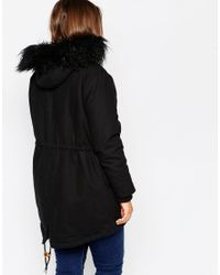ASOS | Brown Curve Cocoon Parka | Lyst