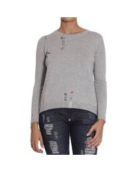 Pinko | Gray Sweater | Lyst