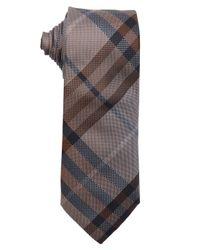 ffd004177677 Lyst - Burberry Cognac Nova Check 'Rohan' Silk Tie in Brown for Men