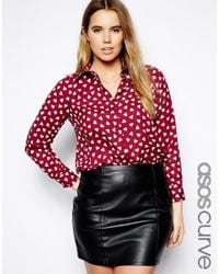 ASOS | Red Exclusive Shirt in Heart Print | Lyst