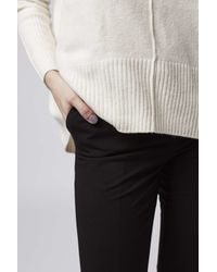 TOPSHOP - Black Cigarette Trousers - Lyst