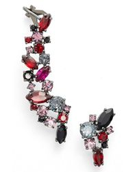 Marchesa | Red 'poppy' Mismatched Earrings | Lyst