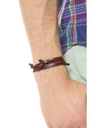 Miansai - Brown Hook Black Leather Wrap Bracelet for Men - Lyst