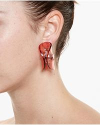 J.W.Anderson | Red Folded Perspex Earrings | Lyst