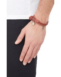 Bottega Veneta - Brown Woven Leather Double-Band Bracelet for Men - Lyst