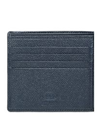 Tod's | Blue Grained Leather Wallet for Men | Lyst