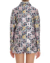 Mary Katrantzou | Multicolor Jaquard Grid Jacket | Lyst