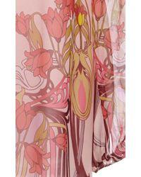 Giamba - Pink Liberty Silk Georgette Blouse - Lyst