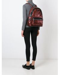 MCM - Red Small Stark Backpack - Lyst