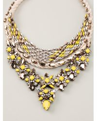Shourouk | Yellow 'princess Flash' Necklace | Lyst