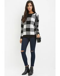 Forever 21 - Black Buffalo Plaid Sweater - Lyst