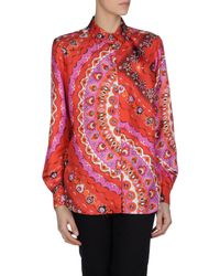 Emilio Pucci - Red Long Sleeve Shirt - Lyst