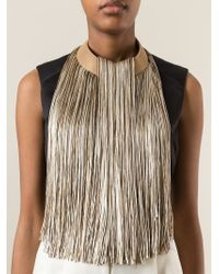 Giorgio Armani | Natural Long Fringe Necklace | Lyst