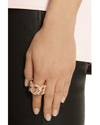 Givenchy Metallic Chain Ring In Rose Gold-tone Metal