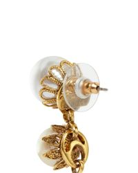 Erickson Beamon - White 'pearly Queen' Resin Pearl Drop Earrings - Lyst