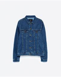 Zara | Blue Denim Jacket for Men | Lyst