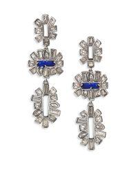 Alexis Bittar - Blue Miss Havisham Crystal Framed Baguette Tiered Drop Earrings - Lyst