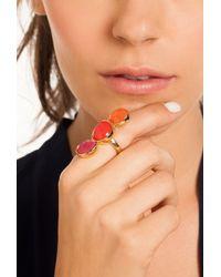 Trina Turk Pink Triple Stone Ring