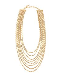 Fragments - Metallic Golden Curly Chain Necklace - Lyst