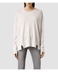 AllSaints | White Atlas Crew Sweater | Lyst