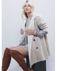 Free People | White Slouchy Suede Blazer | Lyst