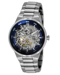 Kenneth Cole | Metallic Men's Stainless Steel Watch With Skeleton Dial for Men | Lyst