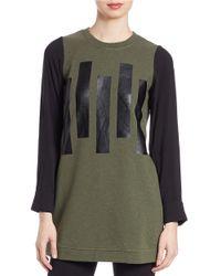 Kensie - Green Tonal Graphic Sweatshirt - Lyst