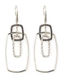 John Hardy | Metallic Classic Chain Rectangular Drop Earrings | Lyst