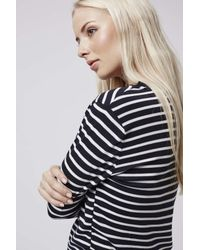 TOPSHOP | Blue Stripe Contrast Top | Lyst
