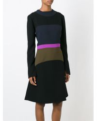 Marni - Black Colour Block A-line Dress - Lyst