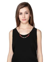 Maison Scotch | Red Necklace / Longcollar | Lyst