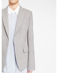 DKNY - Gray Peak Lapel Jacket - Lyst
