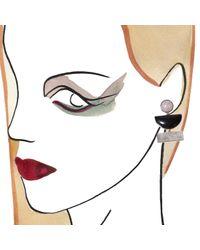 Lizzie Fortunato | Purple Silver Geometric Earrings | Lyst
