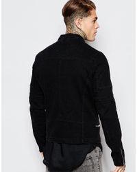 ASOS - Denim Biker Jacket In Black Wash for Men - Lyst