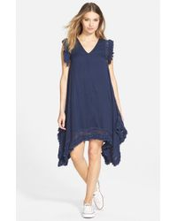 Volcom - Blue 'Trailin By' Macrame Dress - Lyst