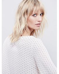 Free People | White Womens Stars Aligned Dot Top | Lyst