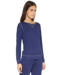 Calvin Klein - Blue Liquid Lounge Pajama Top - Lyst