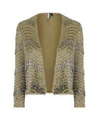 TOPSHOP | Metallic Premium Embellished Jacket | Lyst